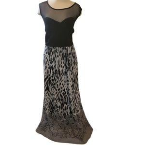 Sami & Jo Maxi Dress Sheer Neckline Women's Sz 2X